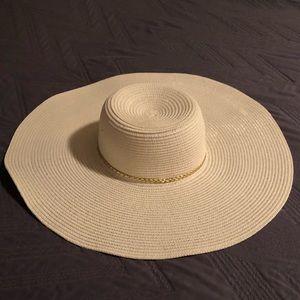 Large brimmed hat